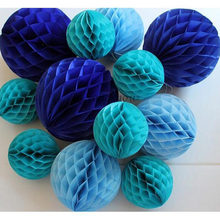 1pcs 10-20cm Colorful Decorative Tissue Paper Honeycomb Balls Flower Pastel Holiday Wedding Birthday Party Decoration Supplies(China)