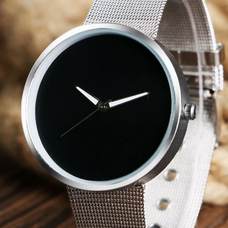 New Top Luxury Watch Men Brand Mens Watches Ultra Thin Stainless Steel Mesh Band Quartz Wristwatch Fashion casual watches Gift