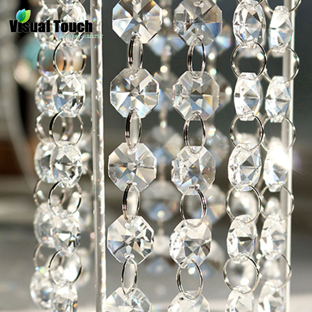 1M Decoration For Home Crystal Clear Acrylic Bead Garland Chandelier Hanging Wedding Decoration Party Festive Supplies Decor