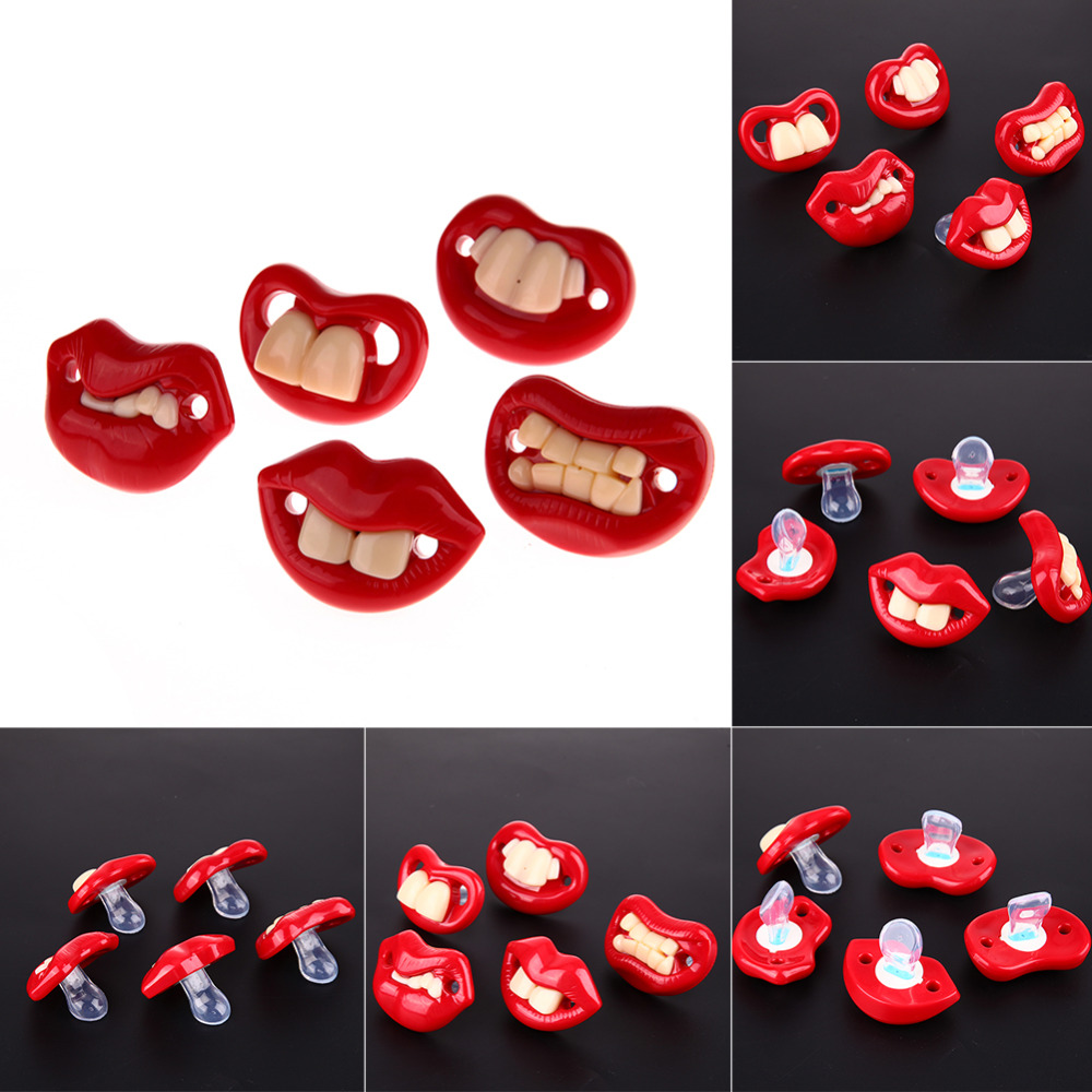 5pcs/Set Funny Mouth Shape Silicone Soother Baby Pacifier Dummy Nipple Teether Infant Toddler Feeding Pacifier Baby Accessories цена