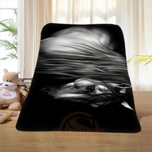 P#137 Custom Horse#46 Home Decoration Bedroom Supplies Soft Blanket size 58×80,50X60,40X50inch SQ01016@H+137