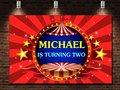 Пользовательские цирк полосатый шатер звезда сцена красный день рождения фон Высокое качество компьютерная печать Вечеринка фон
