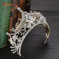 New Arrivals Bridal Crowns Shinny Luxury Strass Wedding Crowns Luxury Crystal Bride Head Accessories T084