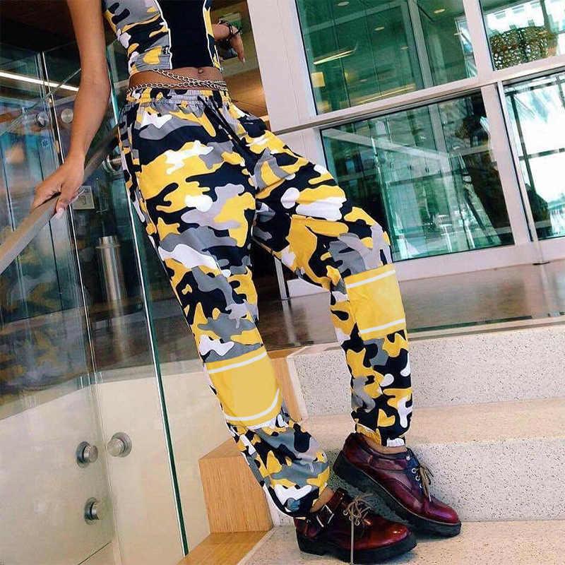 Camouflage HOSEN Hohe Taille Baggy Hosen Jogger Schweiß HOSEN Damen CAMO Casual Jogginghose Trackpants frauen Hip Hop Streetwear