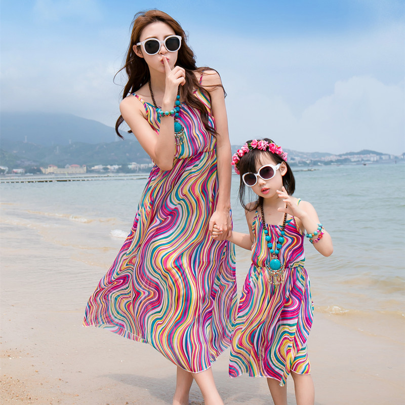 Mommy and me Mother Daughter Dresses Family Matching Outfits Mama Bohemia Baby Summer Mom And Daughter dress Kids Beach vacation mommy and me headband mom and daughter matching headbands mom and me headscarf mummy and me headband