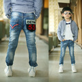 2016 Children clothing Autumn new boys jeans with latter denim print on pocket good quality kids jean B078