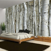 Custom 3D Mural Modern Style Tree Trunk Moisture Proof Eco Friendly Wallpaper Home Decoration Living Room
