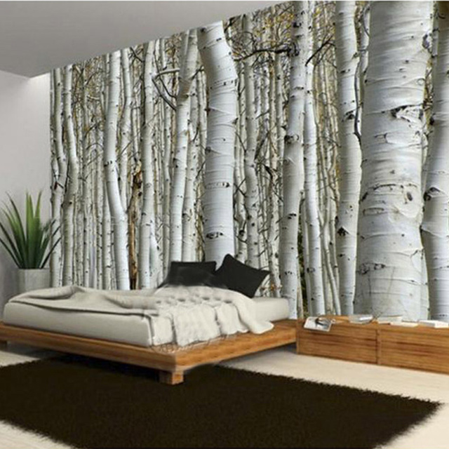 moderne einfache baumstamm foto mural tapete wohnzimmer. Black Bedroom Furniture Sets. Home Design Ideas