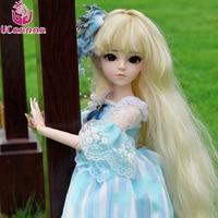 UCanaan/1/3 BJD с полной наряды 18 мяч суставы куклы для платье принцессы для девочек парик обувь макияж силиконовые Кукла реборн детские игрушки