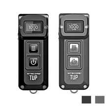 NITECORE TUP USB şarj edilebilir MINI el feneri CREE XP L HD V6 max 1000 LM işın mesafesi 180M devrimci akıllı EDC meşale
