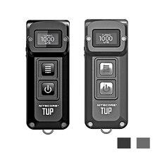 Nitecore tup usb充電式ミニ懐中電灯cree XP L hd V6 最大 1000 lmビーム距離 180 メートル革新的なインテリジェントedcトーチ