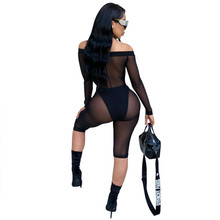 MUXU mesh black transparent bodysuit jumpsuits for women combinaison femme body feminino sexy moda mujer rompers suit
