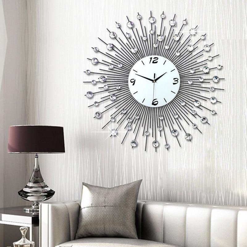 Luminousness living room wall clock large brief fashion