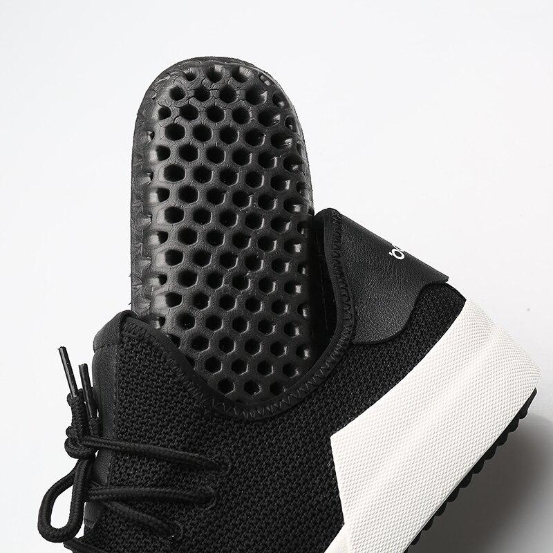 Respirável Coreana Casuais De And Black full Malha White Outono Com Homens Tecido gray Vôo Lona Versão Dos O Novos Sapatos 2018 qR4Pav7S