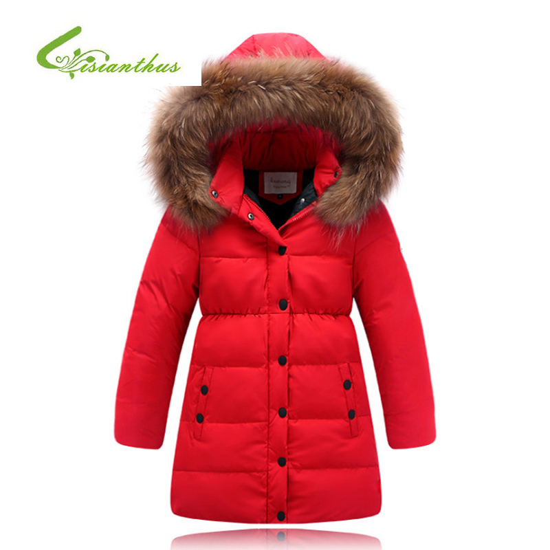 Fashion Girl Winter Down Jackets Children Coats Warm Baby Thick Duck Down Waterproof Kids Outerwears for Cold -30 Degree jacket fashion 2017 girl s down jackets winter russia baby coats thick duck warm jacket for girls boys children outerwears 30 degree