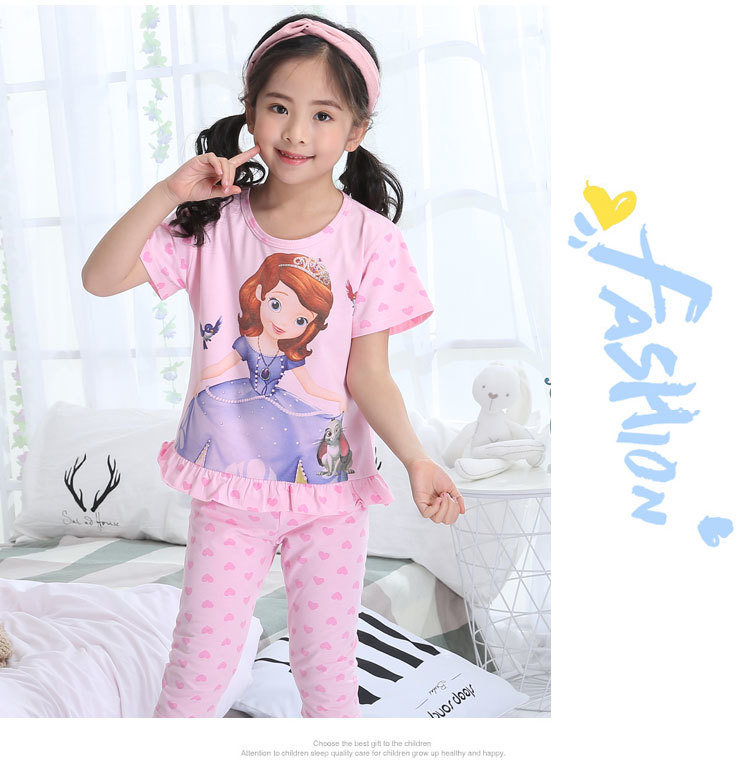 Detail Feedback Questions about Summer Children s Pajamas Girls ... 341d8be17