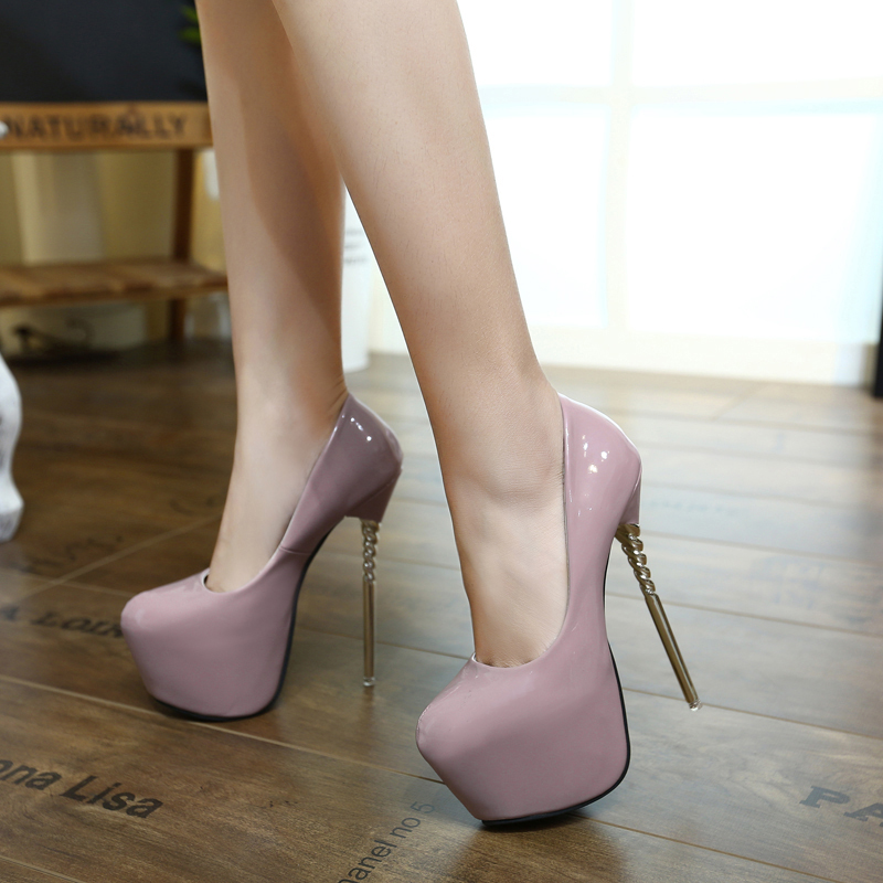 Viola scarpe tacchi alti delle donne della piattaforma tacchi pompe ... bba953da7612