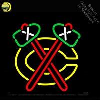 Неоновая вывеска для спортивных команд C Блэкхокс неоновый лампы знак неоновые огни знак стеклянной трубки знаковых пользовательские ночь
