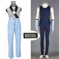 Athemis Anime Naruto Momochi Zabuza Cosplay Costumes Unisex Spaghetti Strap Outfits and Royalblue Jumpsuits Full Set