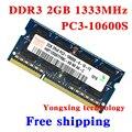 Пожизненная гарантия Для hynix DDR3 2 ГБ 1333 МГц PC3-10600S Оригинальной аутентичной DDR 3 2 Г ноутбук памяти Ноутбука RAM SODIMM 204PIN