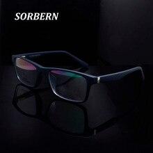 SORBERN Square Eye Glasses Frames For Men Plastic Titanium Brand Design Spectacle Women Eyewear Frame Oculos De Grau