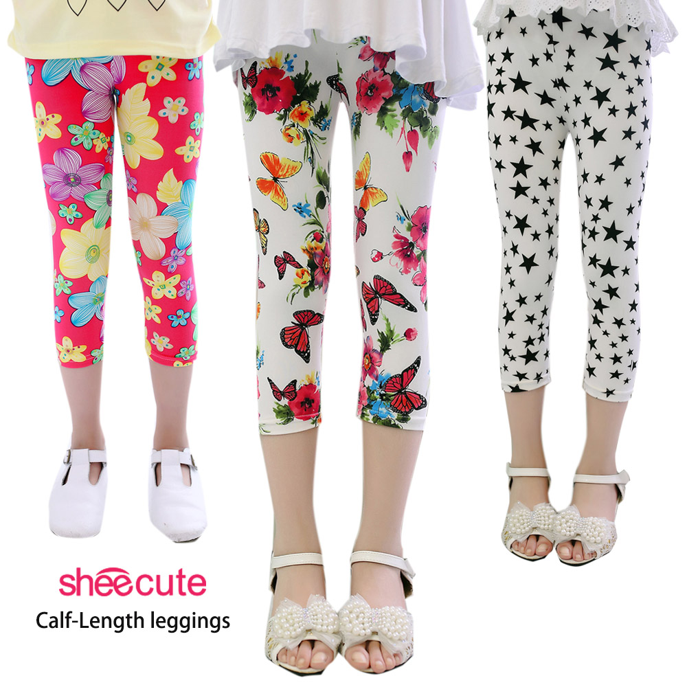 SheeCute-New-Arrival-Hot-Summer-Kids-Calf-Length-Fashion-girls-leggings-print-flowers-girls-pants-childrens-trousers-1