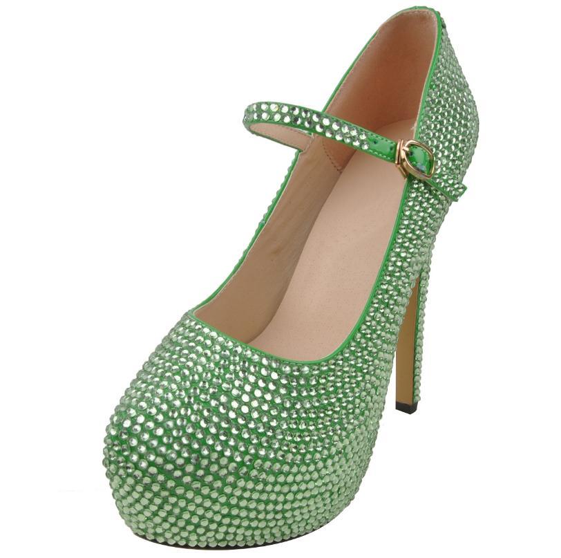 1203ad0940092f L'eau Fine D'honneur De Des Chaussures blanc Talon Avec Femmes Diamant Or  Mariage Demoiselle Nouveau Mariée ...