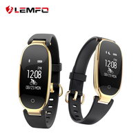 LEMFO S3 Fashion Smart Band Bracelet Girl Women Heart Rate Monitor Wrist Smart Wristband Lady Female