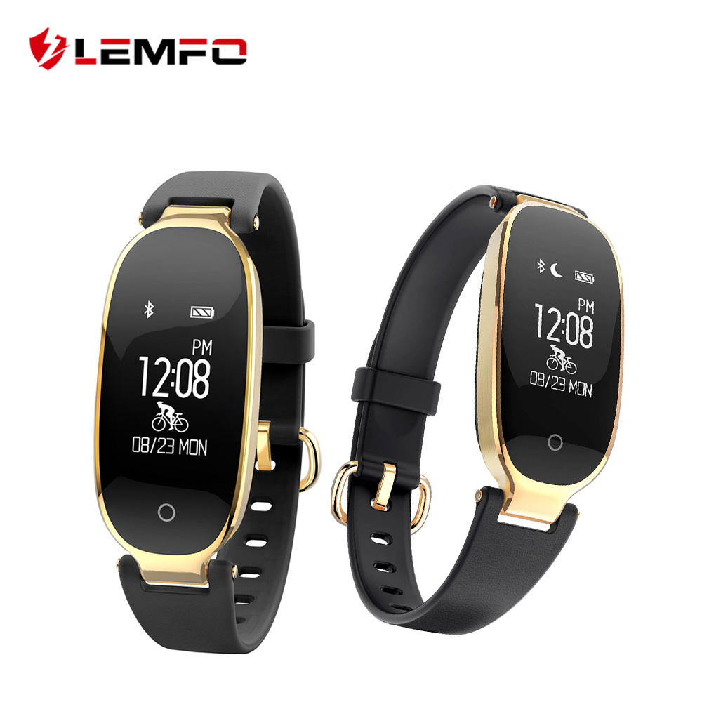 LEMFO S3 Fashion Smart Band Bracelet Girl Women Heart Rate Monitor Wrist Smart Wristband Lady Female