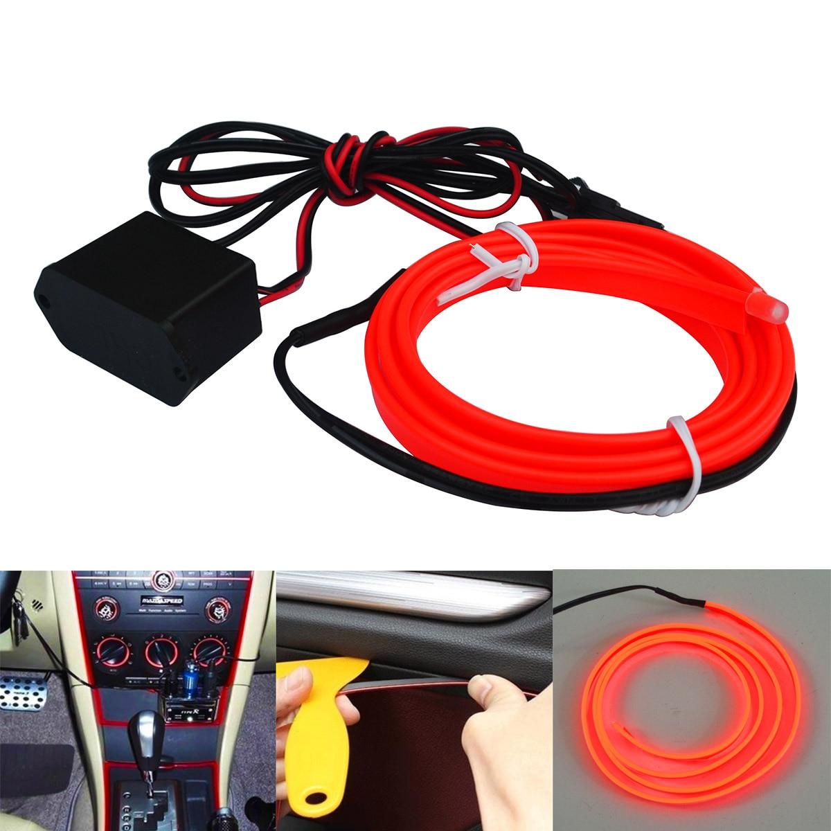 Jiawen Strobing 100M Neon Light El Glowing Wire +30pcs Driver (DC ...