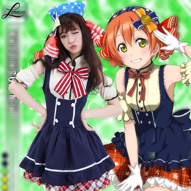 Anime Love Live Hoshizora Rin Costume Cosplay For Woman and Girl Halloween Carnevale Party Costumes Clothes