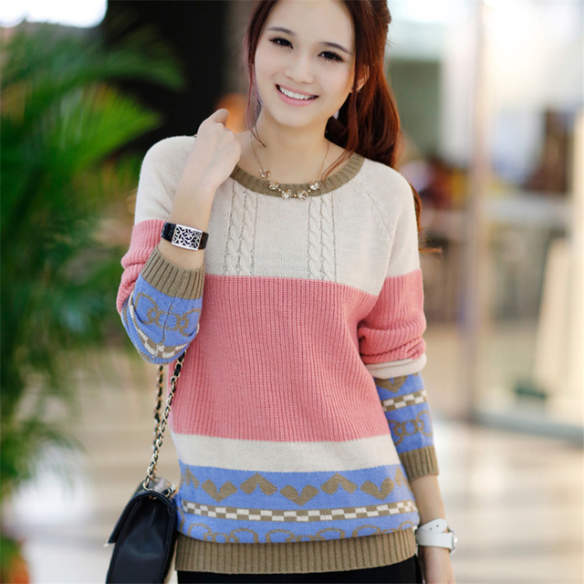 2017 Autumn Winter Women Sweaters and Pullovers O Neck Long Sleeve Knitted Sweater Jaqueta Feminina Sueter mujer