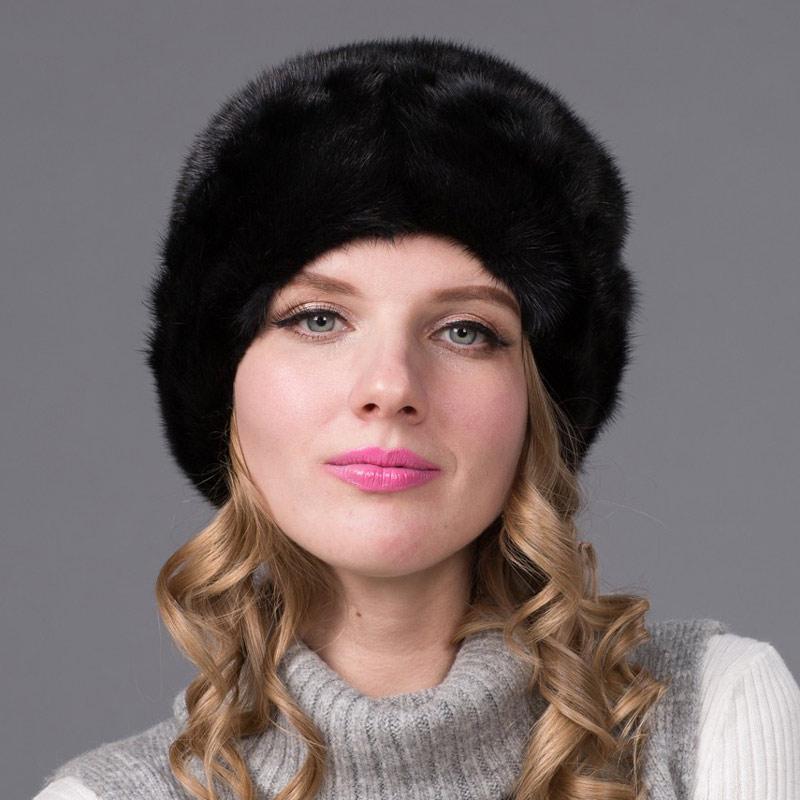 2018 pure норки меховая шапка женская зимняя все импортируется из норки трава шляпа леди с цветочным рисунком русский роскошные дамы шляпа DHY 71