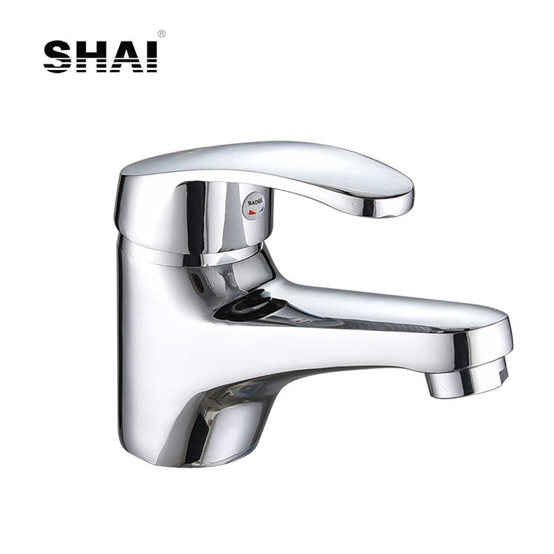 SHAI Classic Bathroom Basin Faucet Elegant Water Tap Chrome Finish Faucet Single Handle Faucets Brass Water Mixer Tap SH2706