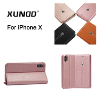 XUNDD Luxury Flip Magnetic Stand Pu Leather Cover Case For IPhone X 5 8inch With Card