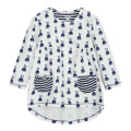 New fashion girls dresses,cotton printed long-sleeved with pocket,child next clothing style,autumn kids casual  clothes(1-7 yrs)