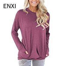 ENXI Moda Femme Inverno Autunno Tee Shirt O-Collo Maternità Tshirt Donne  Casual Allentato T 4b71d765030