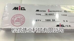 XIASONGXIN LIGHT 1000 PCS 1N4007 IN4007 4007 DO-41 1.0A 1000V RECTIFIERS Original