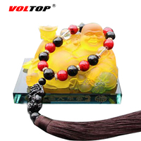 VOLTOP Maitreya Ornaments Car Perfume Seat Air Freshener Crystal Buddha Statue Car Decoration Car Interior Accessories