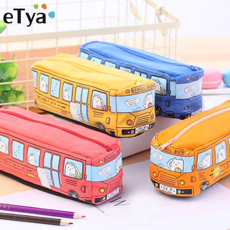 eTya Cute Cosmetic Bag Women Zipper Make Up Brushes Makeup Case Organizer Storage Pouch Beauty Kit Student Pencil Coin Case