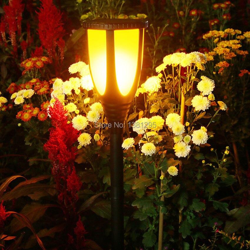 Светодиодный светильник на солнечных батареях, водонепроницаемая лампа для газона, мерцающий фонарь светильник, уличный фонарь для сада с ...