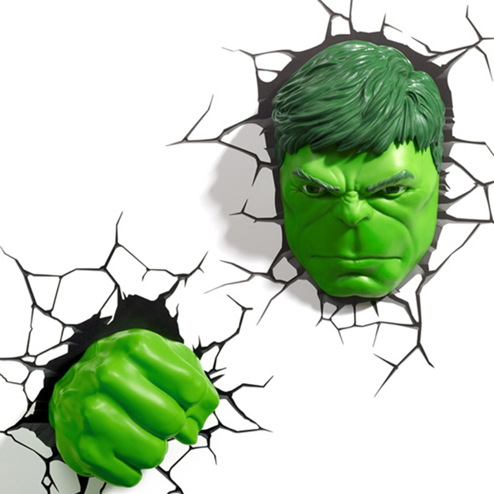 Marvel Avengers Hulk Faust 3d Deco Licht Kreative Led Nacht Licht