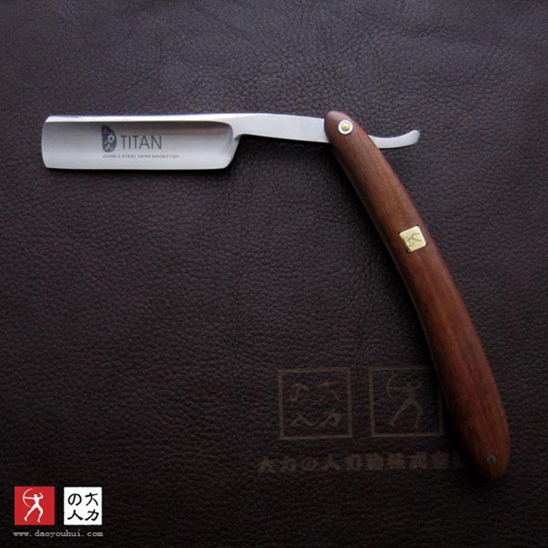 Titan Wooden handle razor shaving knife straight razor blade sharp already free shipping