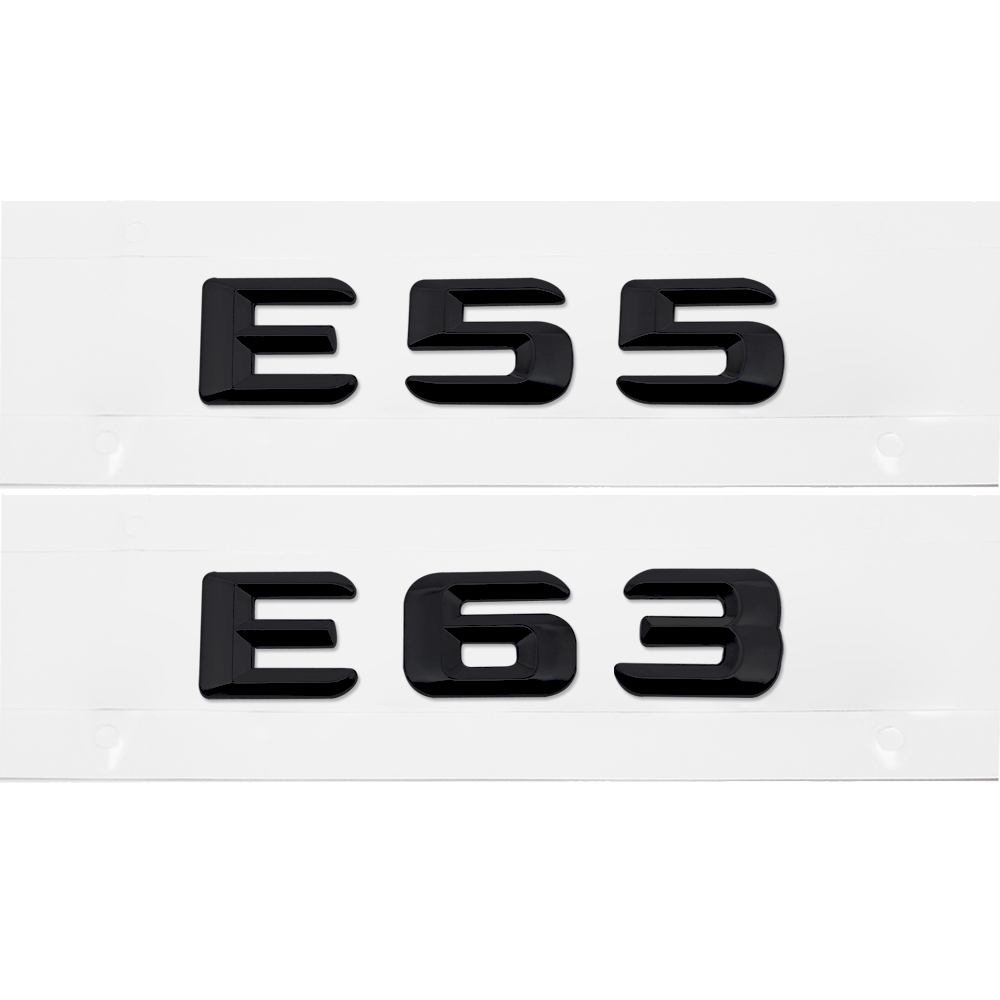 Back box Accessories Emblems Badge Nameplate Sticker <font><b>E55</b></font> E65 For Mercedes Benz <font><b>AMG</b></font> 170 W110 W114 W115 W123 W124 W210 W211 W212 image