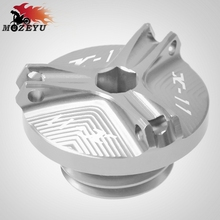 цена на For Honda X-11 X 11 1999-2002 2000 2001M20*2.5 Motorcycle Accessories Engine Oil Cap Oil Fuel Filler Cover Engine Tank Cap Cover