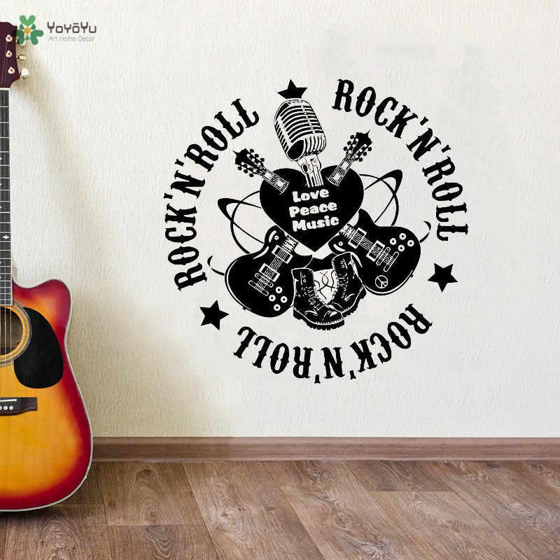 Wall Sticker Rock/'N/' Roll-Lounge Nursery Rockabilly Music Wall Tattoo