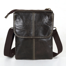 Vintage Dark Coffee 100% Guarantee Real Genuine Leather Mini Men Messenger Bags Men Shoulder Bag Cowhide #MD-M009