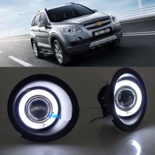 Ownsun Details about Super COB Fog Light Angel Eye Bumper Cover for Chevrolet Captiva 2010-2012 ownsun superb u shape led headlight angel eye projector lens for vw tiguan 2010 2012 model