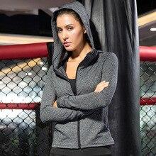 Zipper Jacket Workout-Coat Sportswear Long-Sleeve Women's Jogging Fitness-Training Quick-Dry