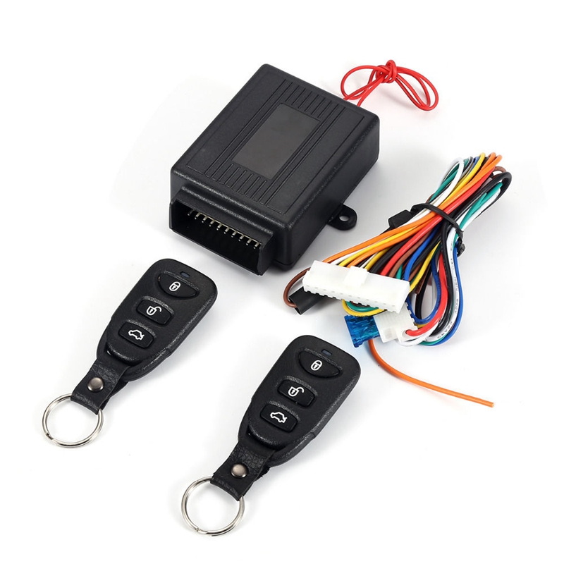 Universal Car Auto Remote Central Kit Door Lock Locking Vehicle Keyless Entry System With Remote Controllers Car alarm System image